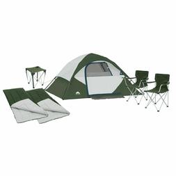 🔥Ozark 6 Piece Camping Combo,4-Person Instant Tent,Chairs